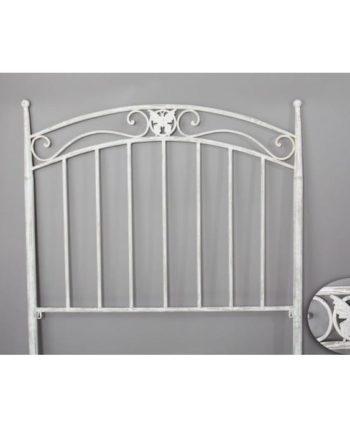 cabecero cama forja blanco