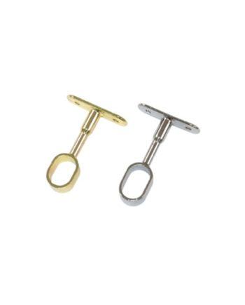 soporte central ovalado para barra de armario